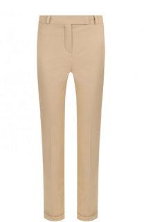 Укороченные однотонные брюки из хлопка Loro Piana