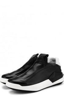 Кожаные кроссовки без шнуровки Cinzia Araia
