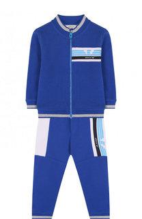 Хлопковый костюм из брюк и кардигана Armani Junior