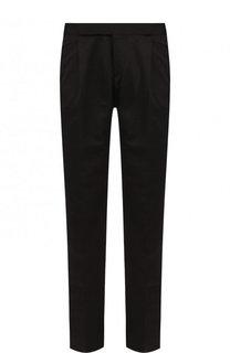 Шелковые брюки прямого кроя Saint Laurent