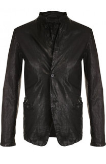 Однобортный кожаный пиджак Salvatore Santoro