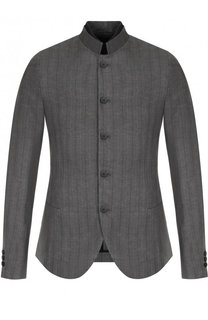 Однобортный пиджак с воротником-стойкой Masnada