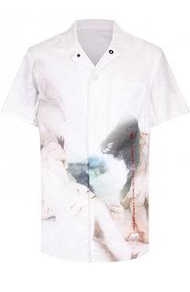 Хлопковая рубашка с принтом 11 by Boris Bidjan Saberi