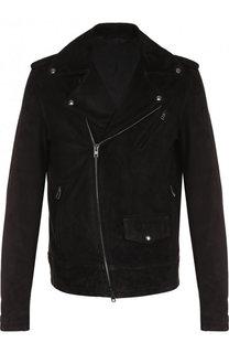 Замшевая куртка на молнии Salvatore Santoro