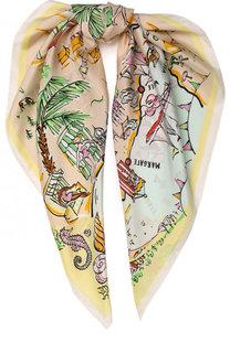 Шелковый платок с принтом Seaside Burberry