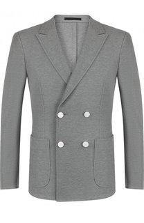 Двубортный хлопковый пиджак Z Zegna