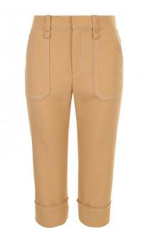 Укороченные брюки из смеси полиэстера и шерсти Chloé
