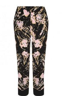 Укороченные шелковые брюки с принтом No. 21