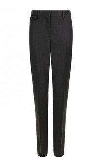 Однотонные шерстяные брюки прямого кроя Burberry