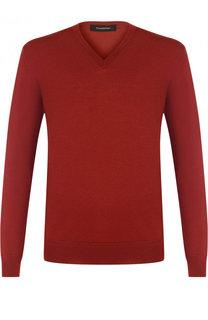 Пуловер тонкой вязки из смеси шерсти и кашемира Ermenegildo Zegna