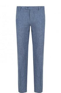 Льняные брюки прямого кроя Berwich