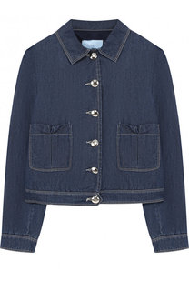 Джинсовая куртка с карманами Lanvin