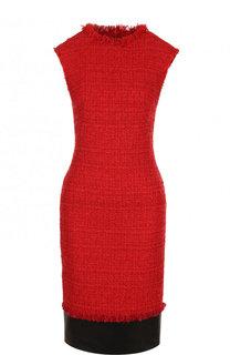 Приталенное буклированное платье без рукавов Alexander McQueen