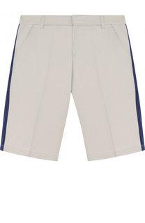 Хлопковые шорты с лампасами Lanvin
