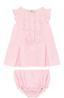 Хлопковый комплект из платья и трусов Armani Junior