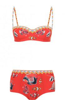 Раздельный купальник с ярким принтом Dolce & Gabbana