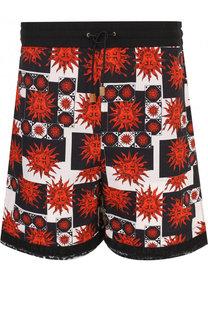 Хлопковые шорты свободного кроя Fausto Puglisi