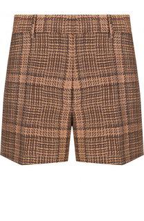Мини-шорты из смеси хлопка и льна Dries Van Noten
