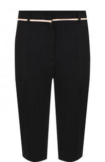 Укороченные однотонные брюки из вискозы No. 21