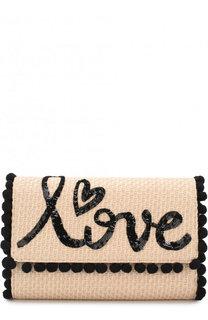 Портмоне на цепочке с декоративной отделкой Dolce & Gabbana