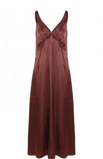 Однотонное платье-миди из вискозы Forte_forte