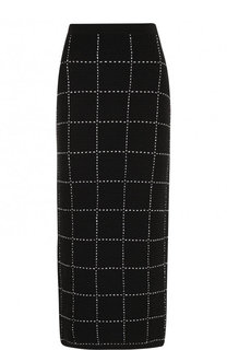 Вязаная юбка-карандаш Balmain