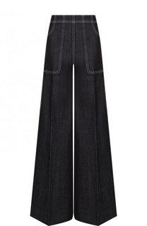Расклешенные джинсы с контрастной прострочкой Burberry