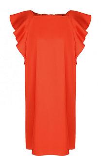 Однотонное мини-платье свободного кроя с оборками Tara Jarmon