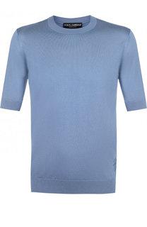 Шелковый джемпер с короткими рукавами Dolce & Gabbana