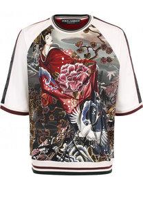 Хлопковый свитшот с короткими рукавами Dolce & Gabbana