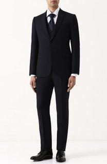Шерстяной костюм-тройка Emporio Armani