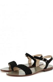 Замшевые сандалии с плетением Gallucci
