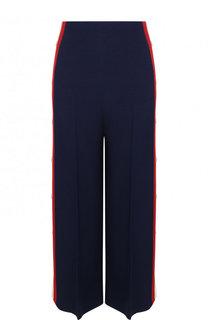 Укороченные брюки из смеси шелка и шерсти Gucci
