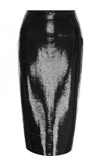 Однотонная юбка-карандаш с пайетками Diane Von Furstenberg