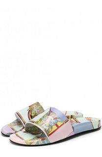 Резиновые шлепанцы с принтом Versace