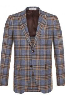 Однобортный пиджак из смеси шерсти и шелка Sartoria Latorre