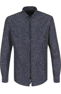 Рубашка из смеси хлопка и шелка Giorgio Armani