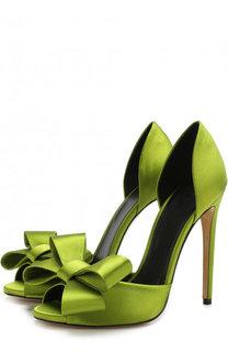 Шелковые туфли Tamara с бантом на шпильке Aleksandersiradekian