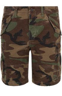 Хлопковые шорты с камуфляжным принтом Polo Ralph Lauren