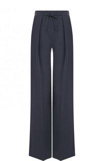Шелковый брюки прямого кроя со стрелками Emporio Armani