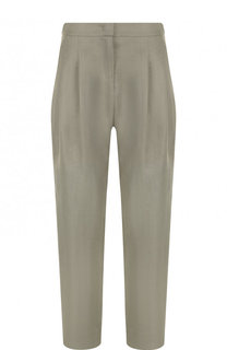 Льняные брюки с защипами Emporio Armani