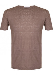 Льняная футболка с круглым вырезом Cruciani