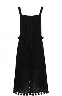 Приталенное платье-миди из льна Altuzarra