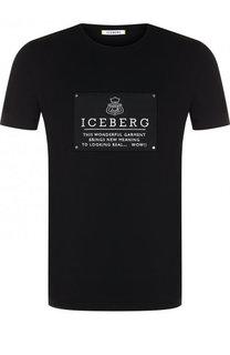 Хлопковая футболка с логотипом бренда Iceberg