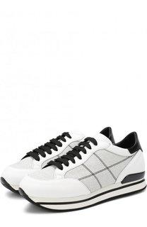 Комбинированные кроссовки на шнуровке Hogan
