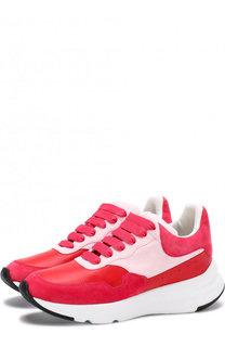 Комбинированные кроссовки на массивной подошве Alexander McQueen
