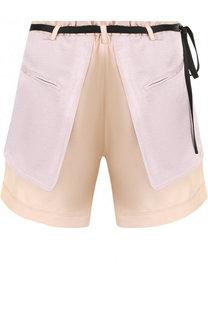 Мини-шорты с контрастным поясом Valentino