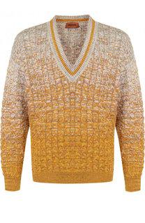 Хлопковый пуловер крупной вязки Missoni