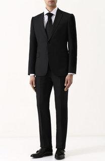 Костюм из смеси шерсти и шелка с пиджаком на двух пуговицах Emporio Armani