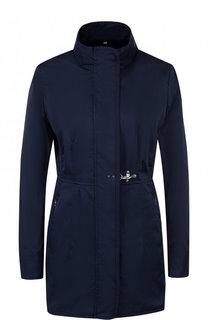 Однотонное приталенное пальто с воротником-стойкой Fay